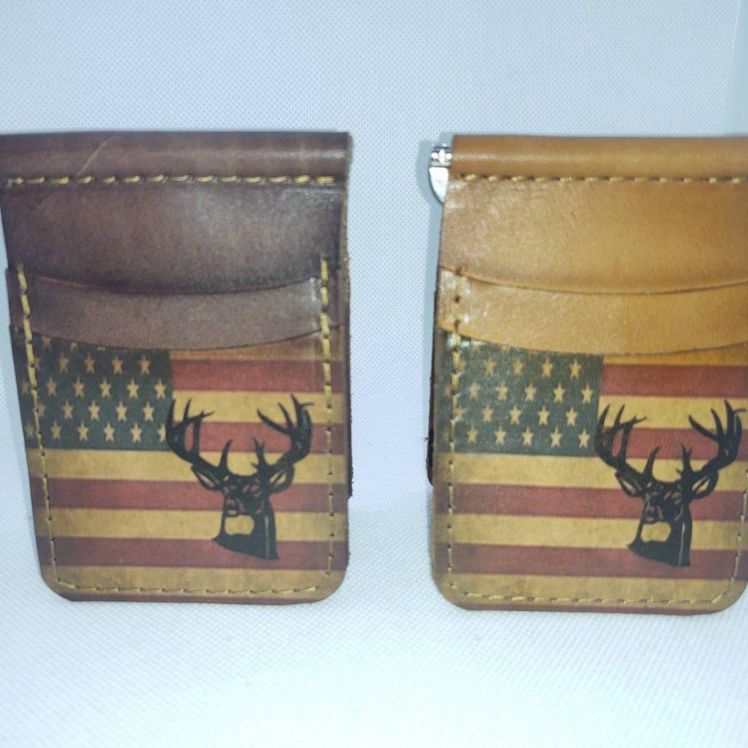 Leather Front Pocket Wallet Fall Buck Minimalist