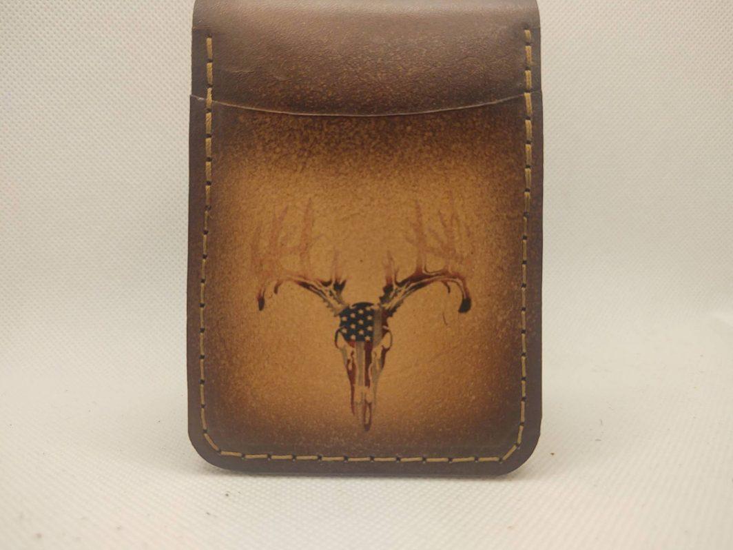 Leather Front Pocket Wallet Deer