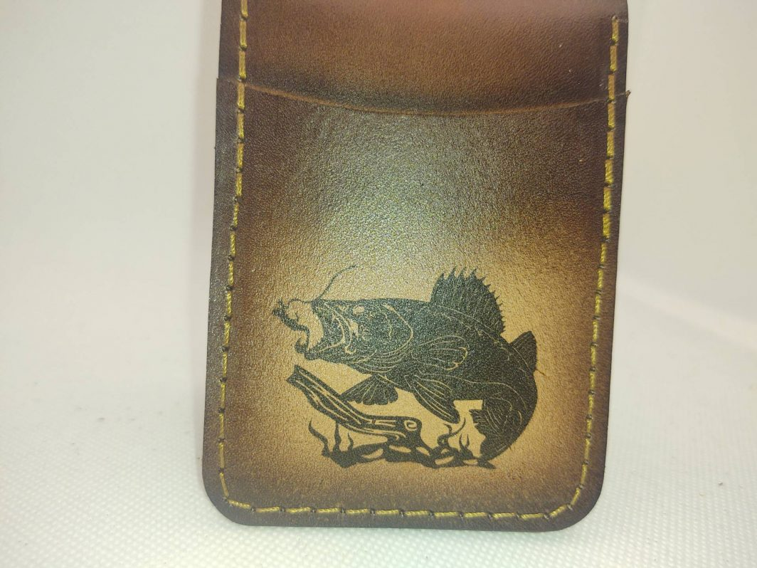 Leather Front Pocket Wallet Walleye