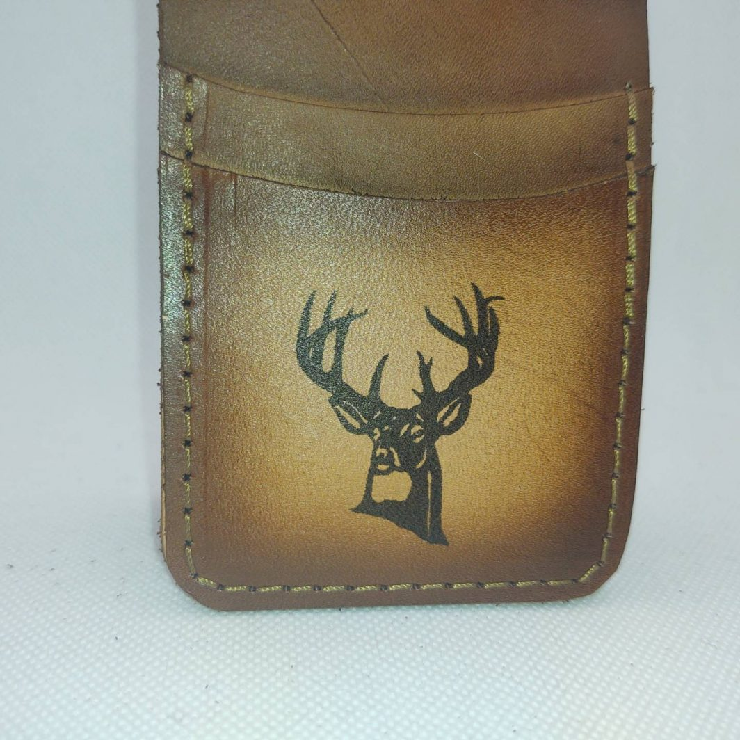 Leather Front Pocket Wallet Buck