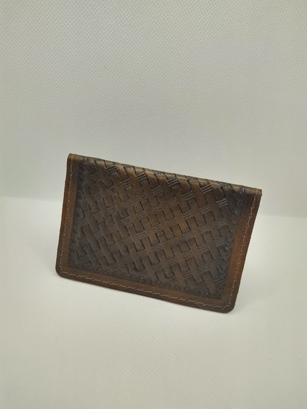 Leather Business Card Holder – Hand Tooled or Plain