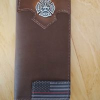 Firefighter Roper Wallet with Red Line Flag