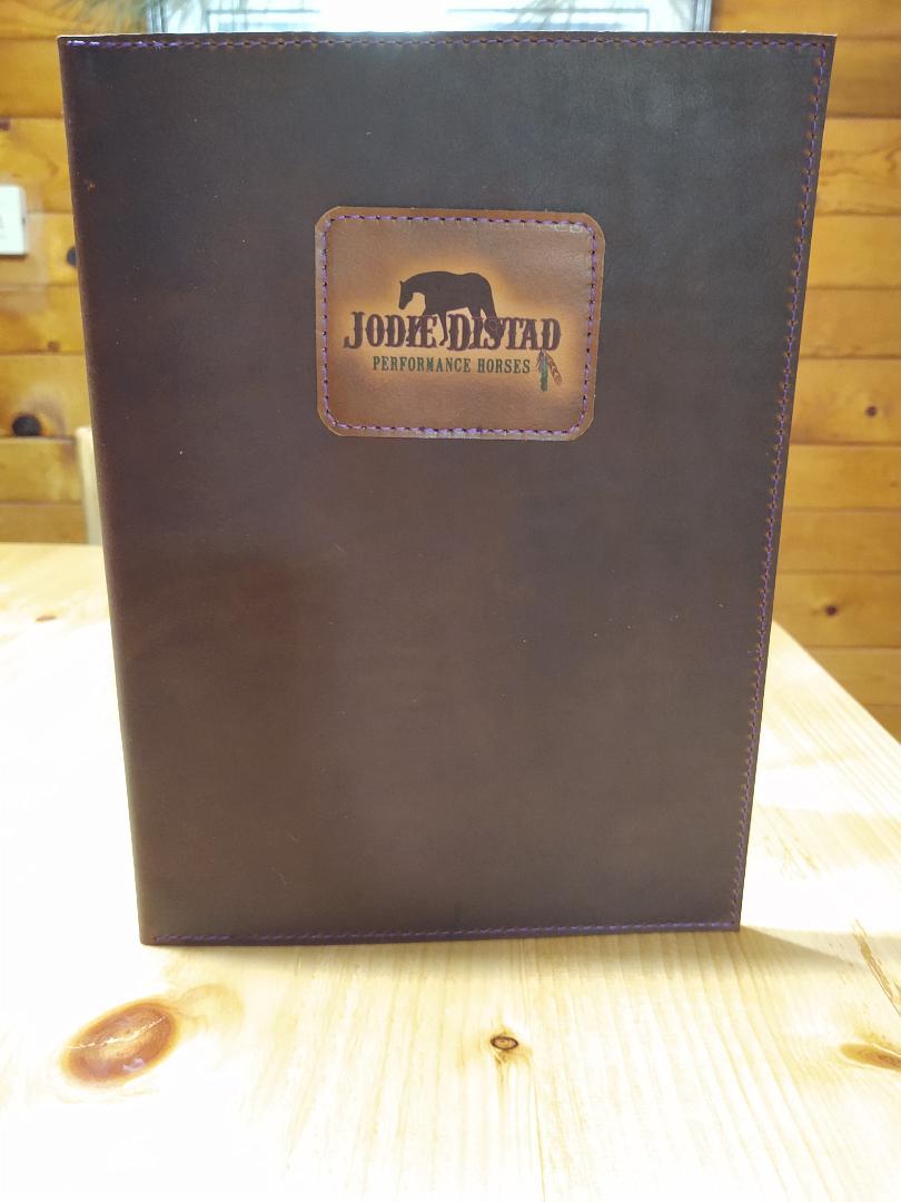 3 Ring Leather Binder or Portfolio